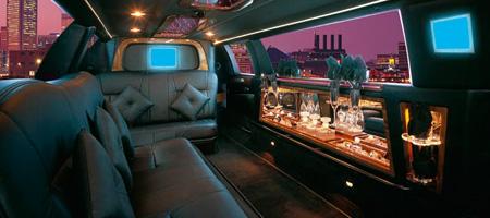 10 Passenger Limo Interior